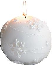 Düfte, Parfümerie und Kosmetik Dekorative Kerze in Kugelform weiß 8 cm - Artman Snowflake Application