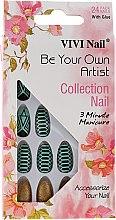 Düfte, Parfümerie und Kosmetik Künstliche Nägel Set mit Kleber 3047 - Donegal