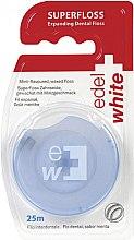 Düfte, Parfümerie und Kosmetik Gewachste Zahnseide mit Minzgeschmack 25 m - Edel+White Expanding Floss
