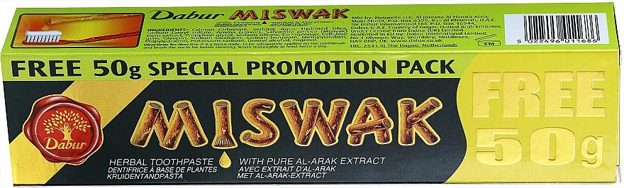Natürliche Kräuter-Zahnpasta mit Miswak-Extrakt - Dabur Miswak