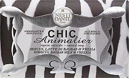Düfte, Parfümerie und Kosmetik Naturseife White Tiger - Nesti Dante Vegetable Soap Hibiscus, Baobab Milk & Freesia Bronze Chic Animalier Collection