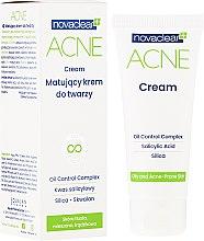 Düfte, Parfümerie und Kosmetik Mattierende Gesichtscreme für fettige, gemischte und zu Akne neigende Haut - Novaclear Acne Cream
