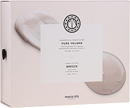 Düfte, Parfümerie und Kosmetik Pflegeset - Maria Nila Pure Volume Presentbox (Shampoo 350ml + Haarspülung 300ml + Handlotion 300ml)
