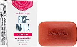 Düfte, Parfümerie und Kosmetik Parfümierte Körperseife für Gesicht und Körper - Schmidt's Naturals Bar Soap Rose Vanilla