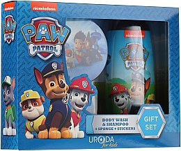 Düfte, Parfümerie und Kosmetik Kinder-Badeset - Uroda Paw Patrol Boy (Duschgel 250ml + Badeschwamm + Aufkleber)