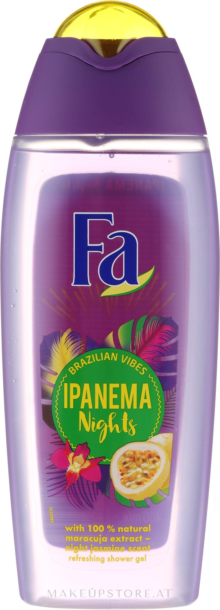 "Duschgel ""Brasilianische Rhythmen"" - Fa Ipanema Nights Shower Gel — Bild 250 ml"