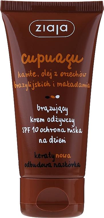 Selbstbräunungscreme für das Gesicht SPF 10 - Ziaja Cupuacu Bronzing Nourishing Day Cream Spf 10