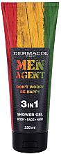 Düfte, Parfümerie und Kosmetik 3in1 Duschgel für Körper, Gesicht und Haar mit Zitrusfrüchten - Dermacol Men Agent Don?t Worry Be Happy