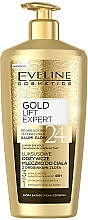 Düfte, Parfümerie und Kosmetik Körperlotion mit Goldpartikeln für trockene Haut - Eveline Cosmetics Luxury Expert 24K Gold Body Milk