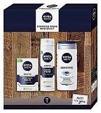 Düfte, Parfümerie und Kosmetik Gesichtspflegeset - Nivea Sensetive Shave Master (Rasierschaum 200ml + Duschgel 250ml + After Shave Balsam 100ml)