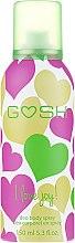Düfte, Parfümerie und Kosmetik Deo Spray - Gosh I Love Joy Deo Body Spray