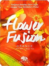 Düfte, Parfümerie und Kosmetik Tuchmaske für das Gesicht mit Orange für strahlende Haut - Origins Flower Fusion Radiance Boosting Sheet Mask