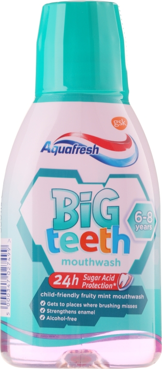 Mundwasser für Kinder 6-8 Jahre - Aquafresh Big Teeth Mouthwash