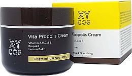Düfte, Parfümerie und Kosmetik Aufhellende und nährende Gesichtscreme mit Zitronenmelisse, Propolis, Vitaminen B und C - XYcos Vita Propolis Cream