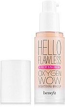 Düfte, Parfümerie und Kosmetik Aufhellende Foundation mit Sauerstoff für einen perfekten Teint LSF 25 - Benefit Hello Flawless Oxygen Wow SPF25 PA+++