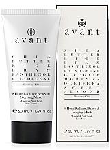 Düfte, Parfümerie und Kosmetik Regenerierende Nachtmaske für das Gesicht - Avant Discovery Edit 8 hour Radiance Renewal Sleeping Mask