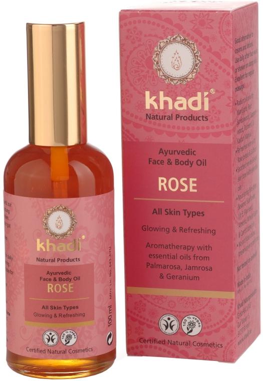 """Ayurvedisches Gesichts- und Körperöl """"Rose"""" - Khadi — Bild N1"""