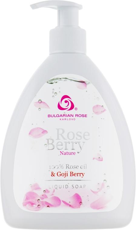 Flüssigseife mit natürlichem Rosenöl und Goji Beeren Extrakt - Bulgarian Rose Rose Berry Nature Liquid Soap