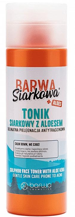 Gesichtstonikum mit Schwefel und Aloe für Aknehaut - Barwa Siarkowa + Aloes