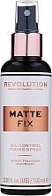 Düfte, Parfümerie und Kosmetik Make-up-Fixierer - Makeup Revolution Matte Fix Oil Control Fixing Spray