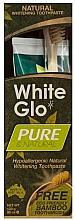 Düfte, Parfümerie und Kosmetik Zahnpflegeset - White Glo Pure & Natural (aufhellende Zahnpasta 85 ml & Bamboo-Zahnbürste 1 St.)
