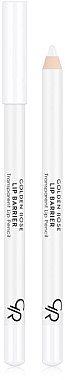 Transparenter Lippenkonturenstift mit Vitamin E - Golden Rose Lip Barrier Transparent Lip Pencil
