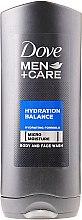 Düfte, Parfümerie und Kosmetik Feuchtigkeitsspendendes Duschgel für Gesicht und Körper - Dove Hydration Balance Shower Gel