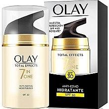 Düfte, Parfümerie und Kosmetik 7in1 Feuchtigkeitsspendende Anti-Aging Gesichtscreme SPF 30 - Olay Total Effects Anti-Edad Hidratante SPF30