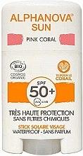 Düfte, Parfümerie und Kosmetik Sonnenschutzstick für das Gesicht SPF 50+ - Alphanova Sun Pink Coral SPF50+