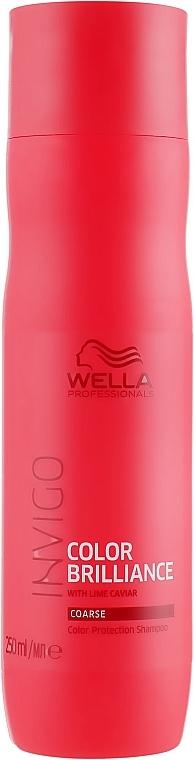 Schützendes Shampoo für kräftiges und coloriertes Haar - Wella Professionals Invigo Brilliance Coarse Hair Shampoo