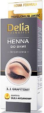 Creme-Henna für Augenbrauen Graphit - Delia Brow Dye Graphite Henna Cream — Bild N1