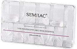 Düfte, Parfümerie und Kosmetik Künstliche Fingernägel 120 St. - Semilac Tips Box Klar