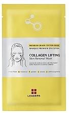 Düfte, Parfümerie und Kosmetik Straffende Tuchmaske für reife, müde und schlaffe Haut mit Kollagen - Leaders Collagen Lifting Skin Renewal Mask