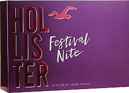 Düfte, Parfümerie und Kosmetik Hollister Festival Nite For Her - Duftset (Eau de Parfum 100ml + Körperlotion 100ml + Zubehör)