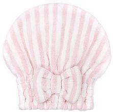 Düfte, Parfümerie und Kosmetik Mikrofaser-Haarturban rosa-weiß - Trust My Sister Microfiber Pair Cap Pink