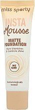 Düfte, Parfümerie und Kosmetik Mattierende Foundation - Miss Sporty Insta Mousse Matte Foundation