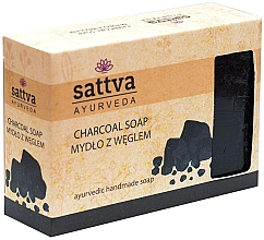 Düfte, Parfümerie und Kosmetik Sanfte Glycerinseife für den Körper Charcoal - Sattva Hand Made Soap Charcoal