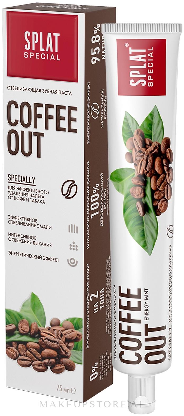 Zahnpasta zur Entfernung der Tee- und Kaffeeflecken - SPLAT Cofee Out — Bild 75 ml