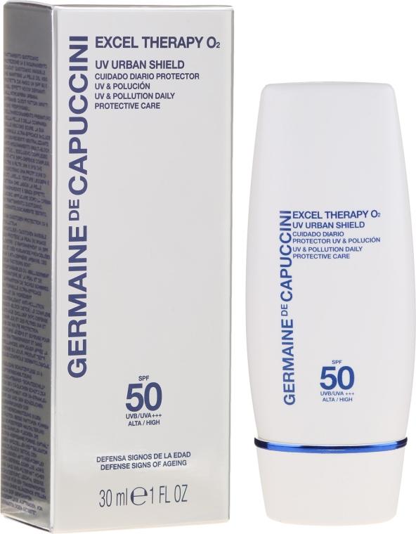Schützende Gesichtscreme gegen die Auswirkungen von Umweltverschmutzung mit UV-Schutz - Germaine de Capuccini Excel Therapy O2 UV Urban Shield SPF50 — Bild N1