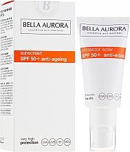 Düfte, Parfümerie und Kosmetik Anti-Aging Sonnenschutzcreme für das Gesicht SPF 50+ - Bella Aurora Solar Protector Anti-Age SPF50+