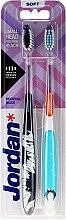 Düfte, Parfümerie und Kosmetik Zahnbürste weich Individual Reach schwarz, blau mit Pinguin 2 St. - Jordan Individual Reach Soft