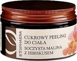 Düfte, Parfümerie und Kosmetik Zuckerpeeling für Körper mit Himbeere und Hibiskus - Bosphaera