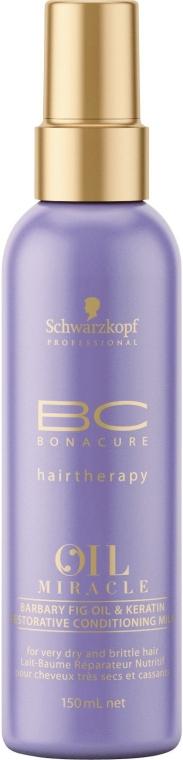 Spray-Conditioner mit Kaktusfeigenöl für strapaziertes und trockenes Haar - Schwarzkopf Professional Bonacure Oil & Micro Keratin Milk
