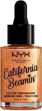 Düfte, Parfümerie und Kosmetik Flüssiger Highlighter für Körper und Gesicht - NYX Professional Makeup California Beamin' Face & Body Liquid Highlighter