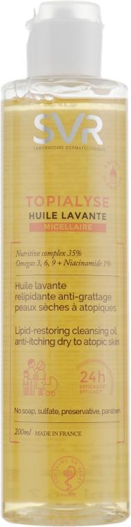 Mizellen-Gesichts- und Körperreinigungsöl für trockene und atopische Haut - SVR Topialyse Lipid-Restoring Cleansing Oil