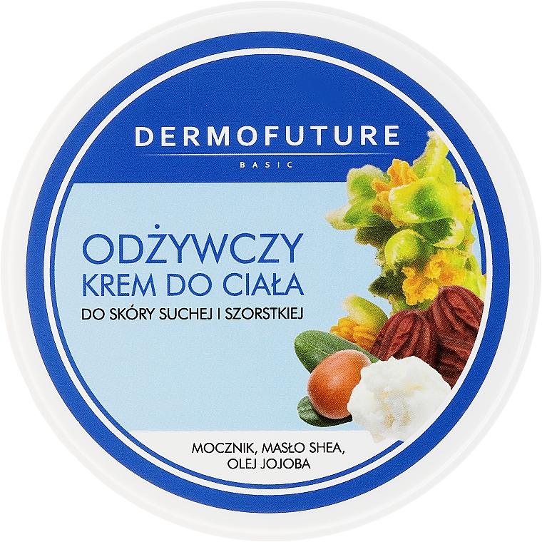 Nährende Körpercreme für trockene und raue Haut mit Sheabutter - DermoFuture