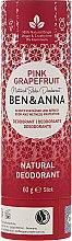 Düfte, Parfümerie und Kosmetik Natürlicher Soda Deo-Stick Pink Grapefruit - Ben & Anna Natural Soda Deodorant Paper Tube Pink Grapefruit