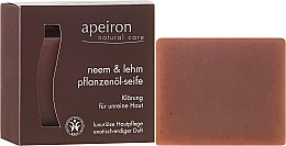 Düfte, Parfümerie und Kosmetik Luxuriöse Pflanzenöl-Seife mit Neem und Lehm für unreine Haut - Apeiron Neem & Clay Plant Oil Soap