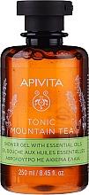 Düfte, Parfümerie und Kosmetik Duschgel mit Gebirgstee und ätherischen Ölen - Apivita Tonic Mountain Tea Shower Gel with Essential Oils