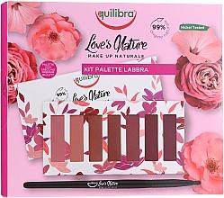 Düfte, Parfümerie und Kosmetik Lippenpflegeset (Lippenstift 7x1g + Lippenpinsel 1St.) - Equilibra Love's Nature Lip Palette Kit